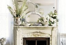 Mantles and Ideas for mantles / this board helps me figure out what to do with my mantle each season / by Courtney Cloe