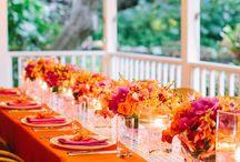 Pink & Orange Wedding / by The American Wedding