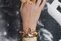 Gold Accents  / Inspired by the Uno6eight Chloe Bracelet  / by Chic Treat Official