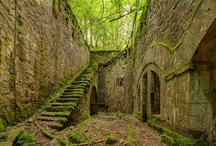 Abandoned castles, buildings and transportation.  / I'm fascinated with history and of eras gone by. These pictures represent the array of lifestyles of the past. / by Sylvia Landeros