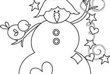 Snowman Stitching Patterns / by Diana Presley