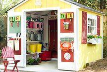 garden sheds / by Darlene Dengler