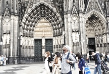 TOUR ADVENTURES / A look inside the Dom Cathedral in Cologne, Germany also a view from Outside the Strasbourg Cathedral in France. / by DARU JONES