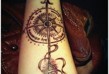 Tattoos → Compass ※ / Tatuajes de brújulas  / by MamiEsMaga