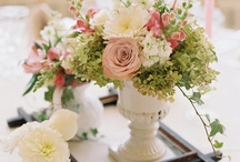 pink wedding flowers / by Toni Smith