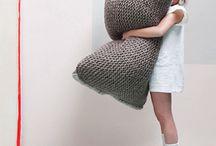 crochet + knit: pillows / by tichtach