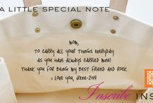 iomoi great ideas for inscribe inside our classic totes / iomoi inscribe inside allows for you to include special words you or your recipient can carry around everyday. / by iomoi