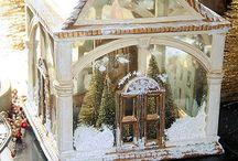 Christmas - All Things Small! / Miniature Christmas Trees, Ornaments and Christmas Houses / by Sheila Douglas
