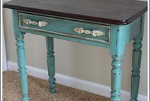 Chalk it up to... / Chalk Painted furniture, D.I.Y,  / by Teresa Pageau