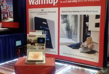"JLCLive 2014 - WarmupUNIQUE booth 439 / In this board you'll discover our unique ""See thru"" display! / by Warmup Floor heating"