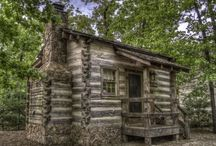 HOUSES:  Log Cabins/ Interiors / Any building that I love! / by Dixie Dill