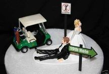 wedding cake and toppers / by Brittany Hill