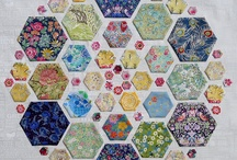 Quilt Blocks: Hexigons / A six sided form used for 'English' paper piecing . Also used to cut out material used in a hexigon quilt. ~ * I review my boards frequently, eliminating duplicates or items that no longer interest me and pining new treasures as I encounter them.*  / by AgnesEthel QuiltPox