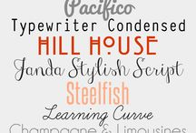 fonts, Fonts, FONTS / by Kelly Odom