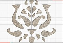 Damask / Inspiration around the regal shape of this Carpet Stencil. / by Vecco
