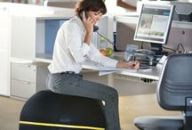 Wellness Ball Active Sitting / Discover a new way to exercise even when sitting down, with Wellness Ball™ Active Sitting*, your new dynamic 'ballchair': http://www.technogym.com/it/wellness-ball-active-sitting/18866 / by Technogym