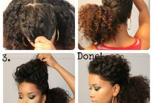 Natural Looks!  / Various tips, products,  and pictures of beautiful natural hair!  / by Stephanie Bolton