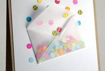 Leuke kaarten maken en doe meer met papier / Hier vind je leuke voorbeelden van zelfgemaakte kaarten, sommige met een beschrijving anderen ter inspiratie. Ook vind je hier leuke ideeën gemaakt van papier voor het huis, ter decoratie of om cadeaus mooi te verpakken. / by SaBee Kralen