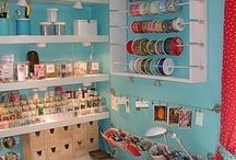 Office craft room ideas / by Ashley Glover