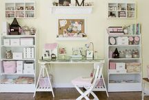 Craft rooms and home offices / by Sandrine Cousette Franchet