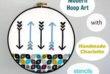 Embroidery Hoop Art Inspiration / by Lori Allred {allreddesign.net}
