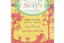 Summer Party Invitations / by Ian & Lola Invitations and Printables