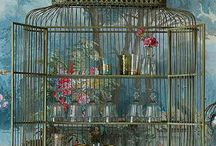 Birdcages / A collection of vintage birdcages and birdhouses. / by Allison Arnett