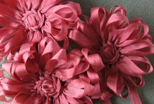 ribbon and fabric flowers / by Jan Berry