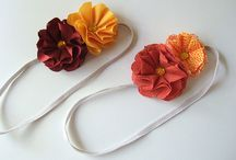 Fabric flowers / by Nancy Young