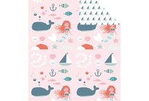 Under the Sea / Join Malin the mermaid, Otto the whale, Selma the seal and Karl the crab, on a fun adventure with our new Under the Sea Collection. Inspired by the ocean and all things nautical, this gorgeous collection features cute flags, anchors and arctic animals in a soft colour palette of blues and sea greens with pops of pink and orange. Perfect for the young or young at heart, brighten up your days with our new Under the Sea Collection. / by kikki.K