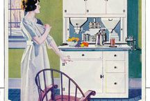 Vintage Kitchens / My 1911 house has a 1920s-inspired kitchen, with a cast-iron stove, a big white sink, and a 1931 GE Monitor Top fridge. I'm always looking for more images of vintage kitchens. / by Wendi Dunlap