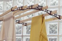 Ceiling clothes drying racks / by Frances Haugen