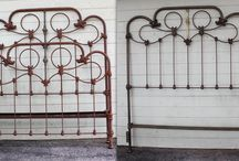 """Queen Width Conversions / Occasionally people don't want the more common side rail length conversion, to accommodate their queen size mattress, on their antique double size iron bed. So in these instances we do a width conversion, adding an additional 3"""" to each side. We strive to do this in such a manner as to not alter the original design or symmetry of the bed. / by Antique Iron Beds by Cathouse Beds"""