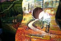 """Custom Painted Guitarz Plus"" / by John Beacher"