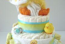 baby diaper cake & deco ideas / by Natalie Robinson