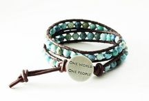 Gifts that give / One World One People Boho Wrap Bracelet...22% of each bracelet sold donated to the One World Foundation / by Metalmorphis Jewelry