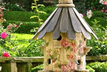 painting bird houses / by Karen Huett