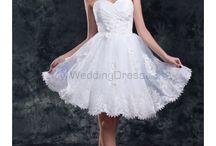 Short Wedding Dresses /  Chiffon V-Neck Knee Length Column Short Wedding Dress / by eweddingdress