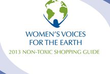 Non-Toxic Shopping Guide 2013 / Tips & resources for finding safer products, and top picks for non-toxic gifts from women experts in their fields.  / by Women's Voices for the Earth