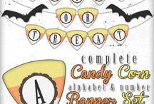 Candy Corn Full Alphabet and Number Free Banner Set / by Andrea Cammarata