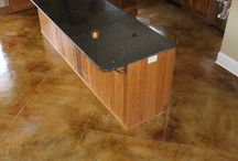 Acid stained concrete / by Laurie Routt