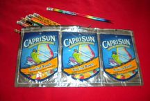 Juice Pouch Crafts / Transform your kids juice pouches into these fun crafts.  Check out Green Kid Crafts products on http://www.GreenKidCrafts.com / by Green Kid Crafts: Eco Friendly Creativity and Science Kits