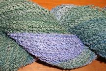 Yarn, fiber, fabric / Weaving, spinning, knitting crocheting, sewing / by Margery Erickson