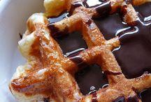 Crêpes et gaufres / Pancakes & Waffles / Crêpes, pancakes, gaufres de foire, de Liège etc. / by Cocinera Loca