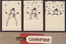 snowman/snow cards / by Peggie Barker