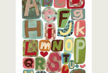 Alphabet soup / collections of alphabets...all sorts of mediums...some so creative...some nostalgic, some stitched, some painted...all are the letters we use in our everyday language. / by Kim Teigen