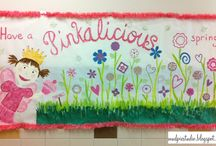 Bulletin Boards and More / Ideas for classroom and hallway bulletin boards and door decor. / by Lori Z. @ mudpiestudio.blogspot.com