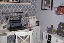 craft rooms/scrapbooking space/office / by Barbara Landon