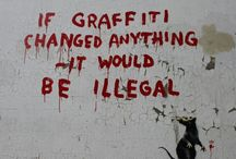 Graffiti - Urban/Street Art ✍ / Graffiti makes a blank space more interesting, can be beautiful and can share an important message or idea / by Ev