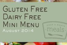 Gluten Free Dairy Free Mini Menu August 2014 / by Once A Month Meals